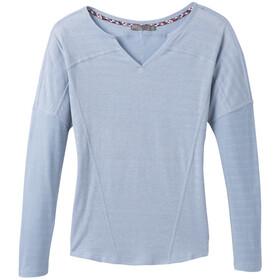 Prana Gladis T-shirt zippé Femme, blue sheen